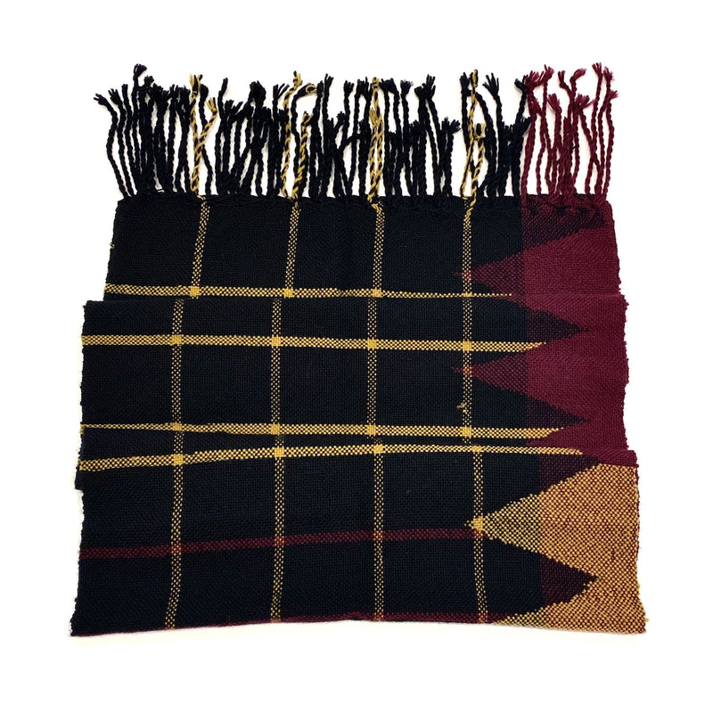 Beck Jobson — Handwoven Merino Check Throw | Wrap in Green and Black Textiles Beck Jobson | Craft
