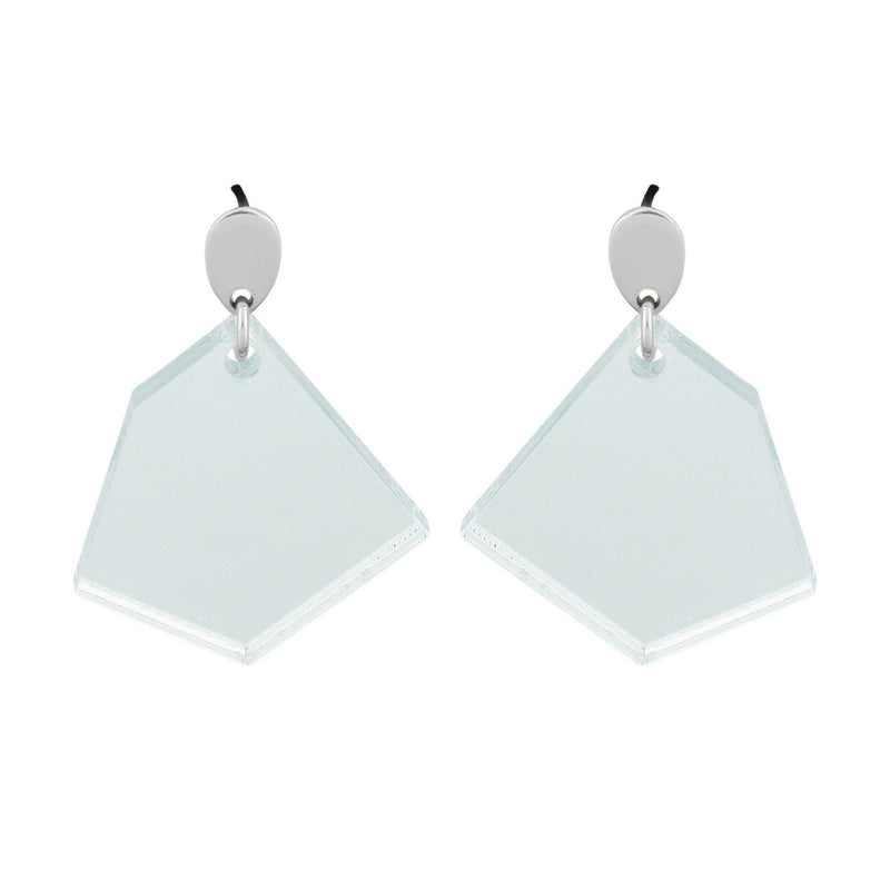 bëuy — Droplet Earrings Mirrored Silver - Australian made Jewellery
