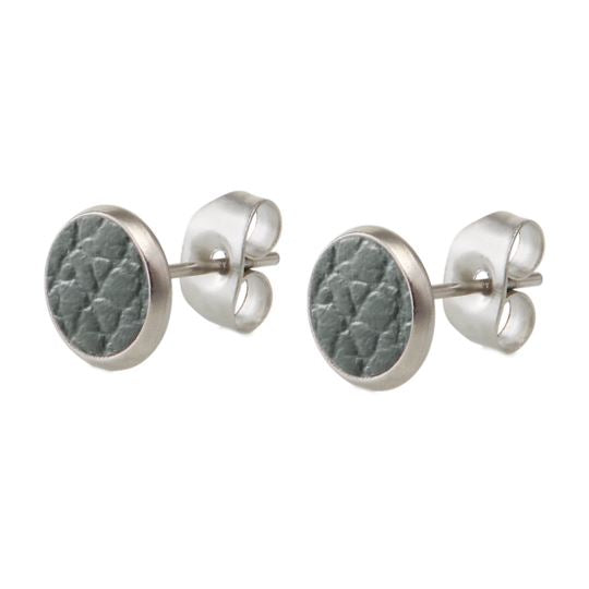 bëuy —  Grey Stud Earrings - Australian made Jewellery