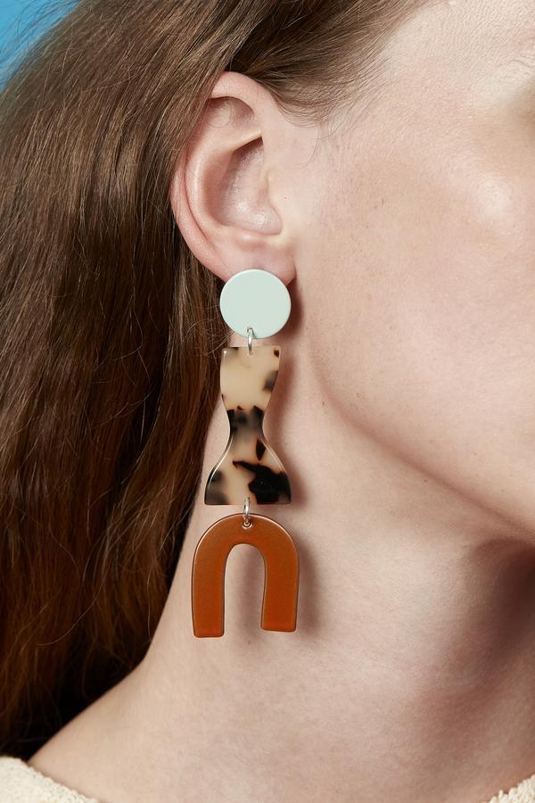 Bianca Marvrick — Roy Earrings (Mint) - Australian made Jewellery