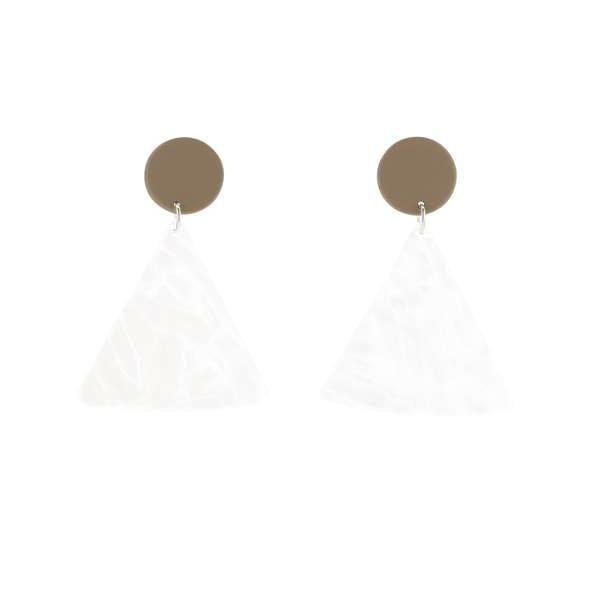 Bianca Marvrick — Tan Chip Earrings - Australian made Jewellery