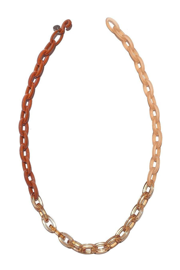 Bianca Mavrick — Trio Gradient Chain Necklace in Peach Jewellery BIANCA MAVRICK | Craft