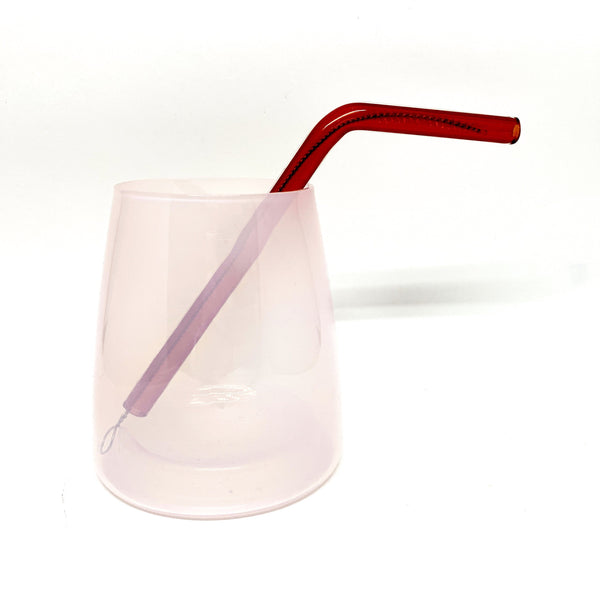 Billy Crellin, Studio Dokola — Red Glass Drinking Straw - Australian made Glass