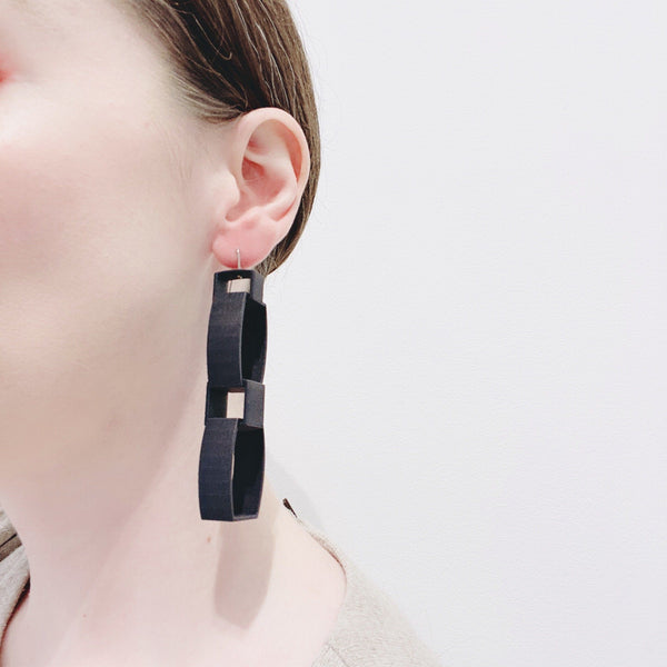 Bin Dixon-Ward — Black Earrings - Australian made Jewellery