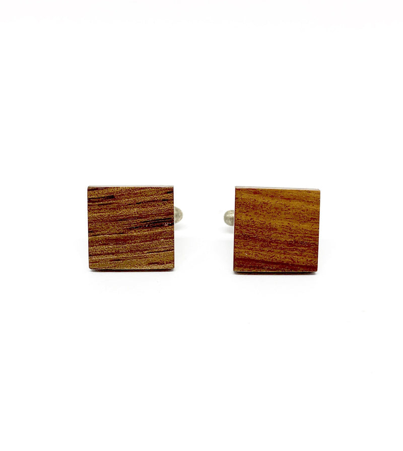 Brendon Collins — Square Australian Mulga Cufflinks - Australian made Wood