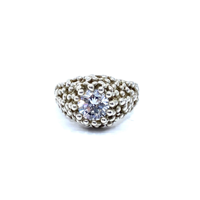 Cashmere Malekitsch — Silver and Cubic Zirconia 'Champagne and Caviar' Ring - Australian made Jewellery