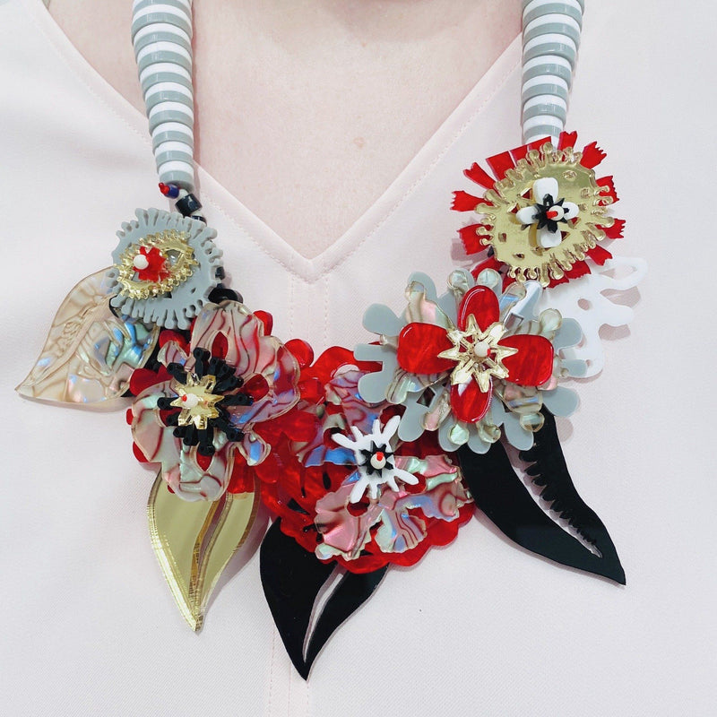 Christina Darras — 'Night Garland' Neckpiece - Australian made Jewellery
