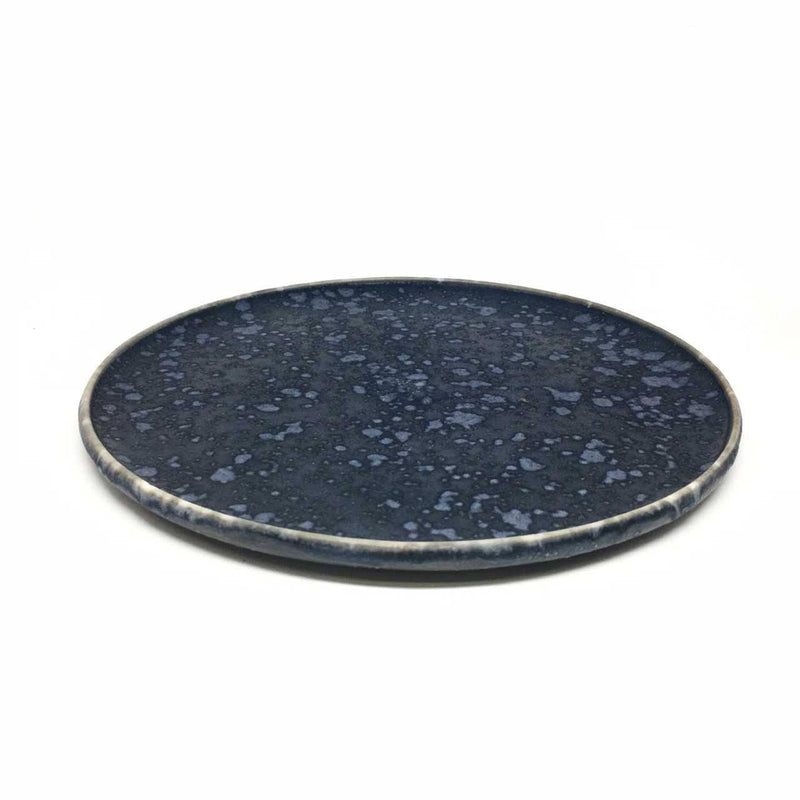 Christopher Plumridge, Claystone Pottery — Black Crystal Matte Side Plate - Australian made Ceramics