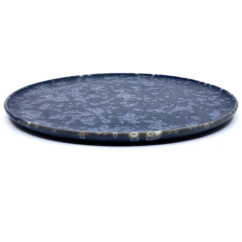 Christopher Plumridge, Claystone Pottery — Black Crystal Matte Dinner Plate - Australian made Ceramics