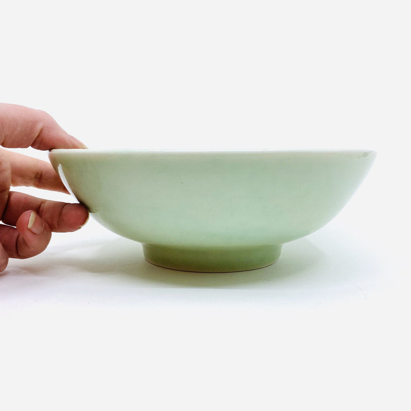 Christopher Plumridge, Claystone Pottery — Green Celadon Serving Bowl - Australian made Ceramics