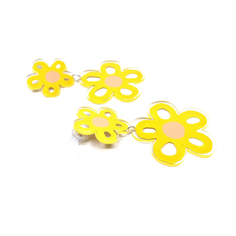 Dorkus Design — Flower Power Earrings - Australian made Jewellery
