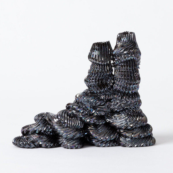 Ebony Russell — '2 Holder Midnight Pipeline Candle Holder' | Sculpture Ceramics Ebony Russell | Craft