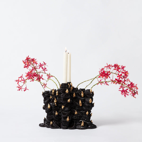 Ebony Russell — 8 Spouted Sculptural Flower Vase With Gold Lustre Ceramics Ebony Russell | Craft