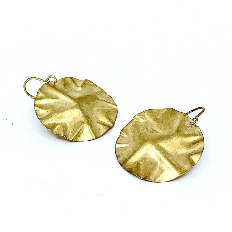 Elfrun Lach — Gold Plated Earrings - Australian made Jewellery