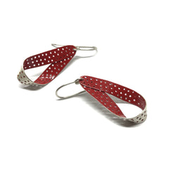 Elizabeth Kennedy — Red Loop Earrings - Australian made Jewellery