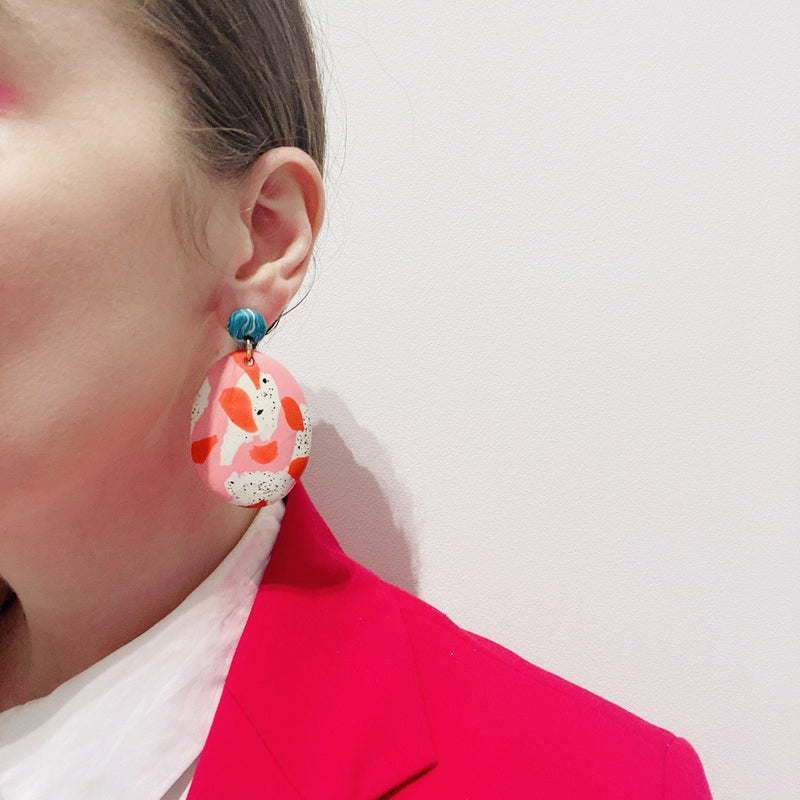 Emily Green — Handformed Acrylic Drop Earrings - Australian made Jewellery