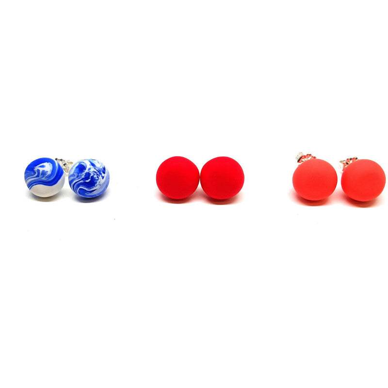Emily Green — Red Studs - Australian made Jewellery