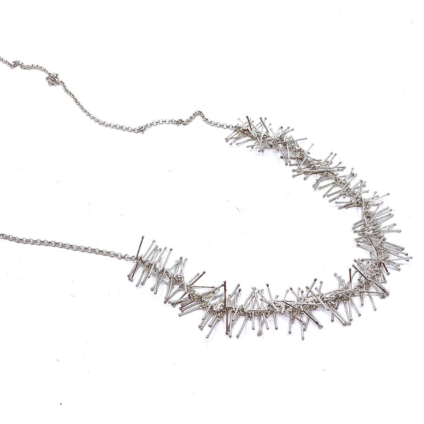 Felicity Large — Long Silver Necklace - Australian made Jewellery
