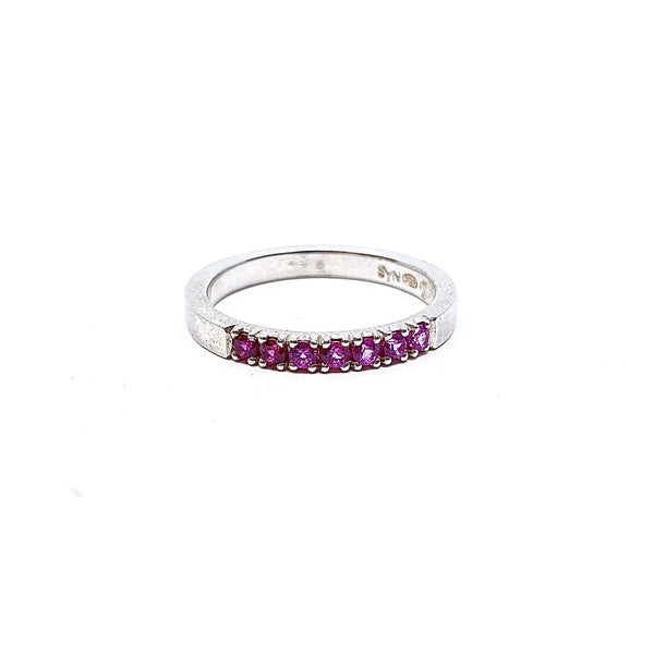 Felicity Large — Silver and Ruby Gradient Ring - Australian made Jewellery