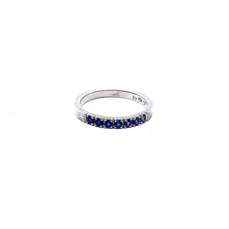 Felicity Large — Silver and Sapphire Gradient Ring - Australian made Jewellery