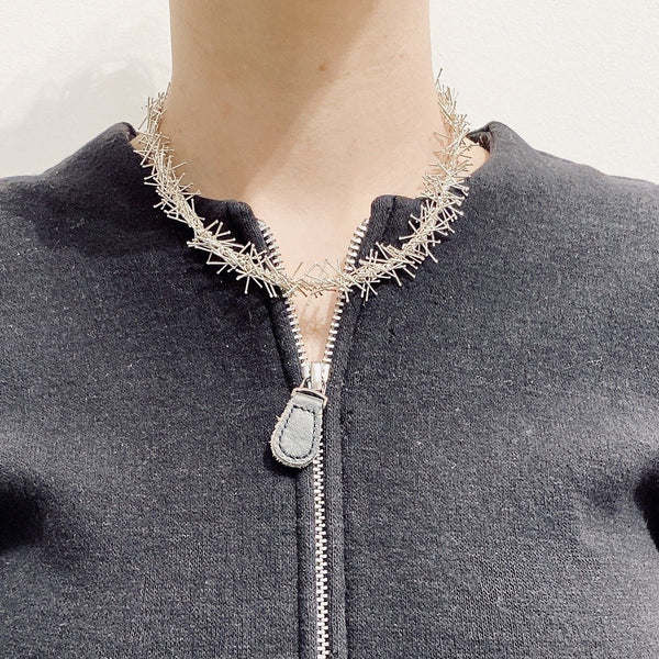 Felicity Large — Silver Pin Necklace - Australian made Jewellery