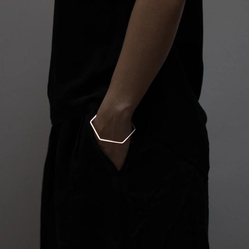Felicity Large — Sterling Silver Hexagonal Bracelet - Australian made Jewellery