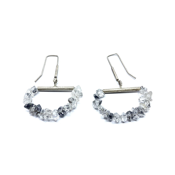 Fiona Watkins, Caracus — Herkimer Diamond Earrings - Australian made Jewellery