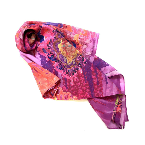 Gem Silk Scarf — Kate Rohde - Australian made Textiles