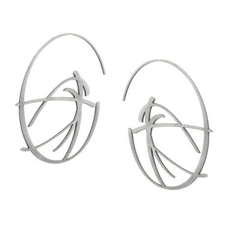 inSync design — Flux Earrings in Raw Stainless Steel - Australian made Jewellery