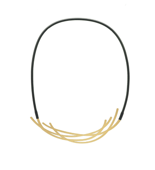 inSync design — Nest Necklace in 22ct Matt Gold Plate - Australian made Jewellery