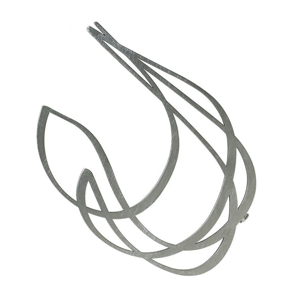 inSync design — Soar Brooch in Raw Stainless Steel - Australian made Jewellery