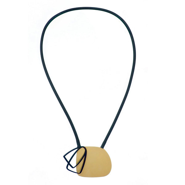 inSync design — X2 Medium Necklace in Gold/Black - Australian made Jewellery