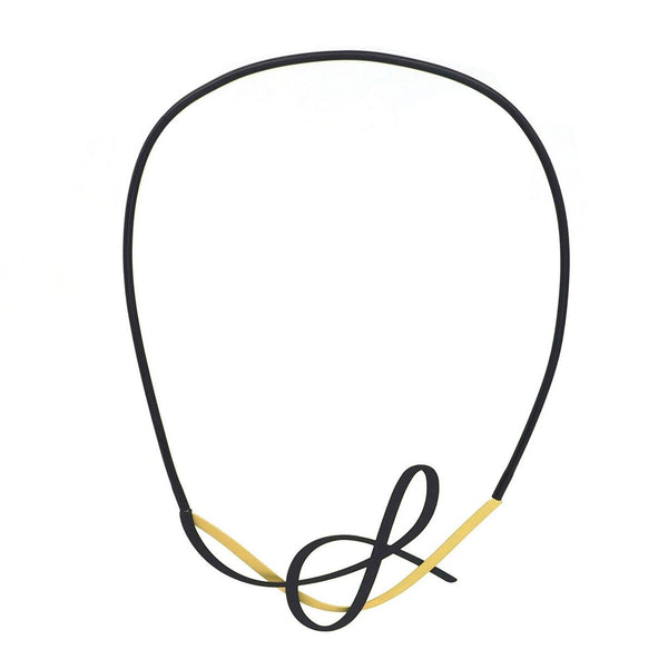 inSync design — X2 Tangle Necklace in Gold/Black - Australian made Jewellery