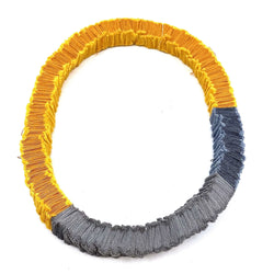 Isabel Avendano-Hazbun — Yellowfins and Grey Tare Series Necklace - Australian made Textiles