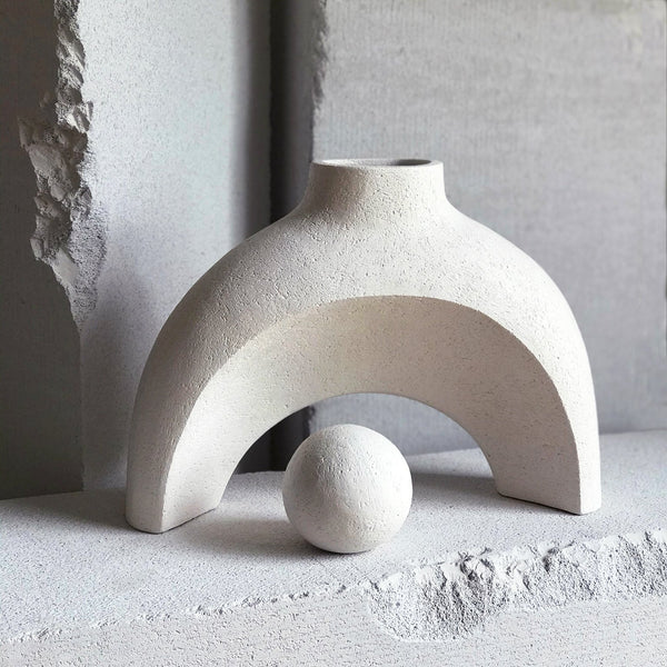 Jan Vogelpoel — 'Ash Curve' Ceramic Sculpture - Australian made Ceramics