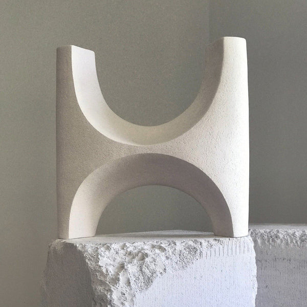 Jan Vogelpoel — White 'Arc' Ceramic Sculpture sculpture Jan Vogelpoel | Craft