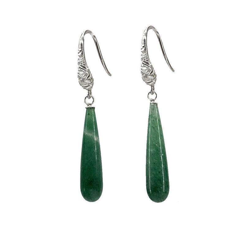 Jenny Fahey — Drop Earrings in Aventurine Jewellery Jenny Fahey | Craft