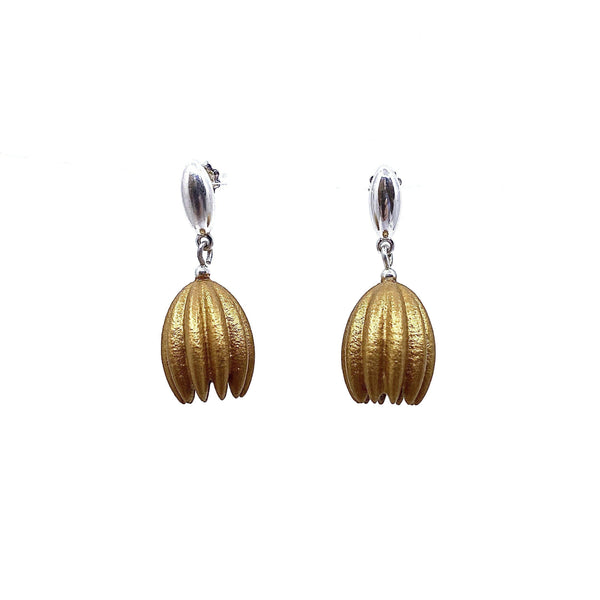 Jenny Fahey — Gold Hula Earrings - Australian made Jewellery