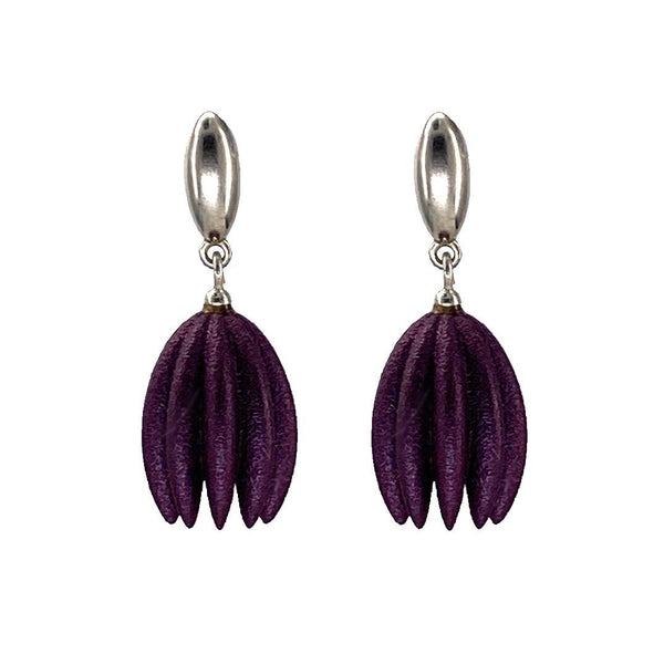 Jenny Fahey — Hula Earrings in Eggplant Jewellery Jenny Fahey | Craft