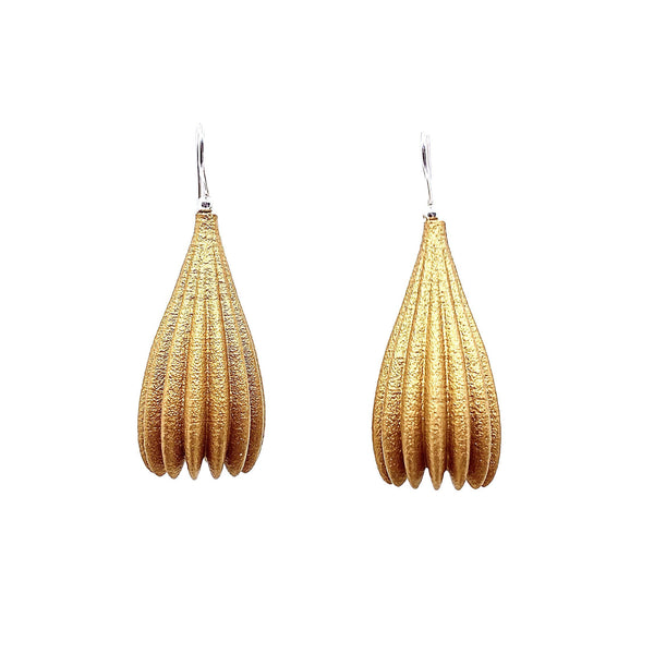 Jenny Fahey — Long Pod Drop Earrings - Australian made Jewellery