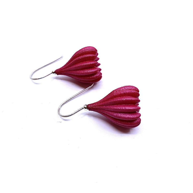 Jenny Fahey — Medium Pink Pod Drop Earrings - Australian made Jewellery