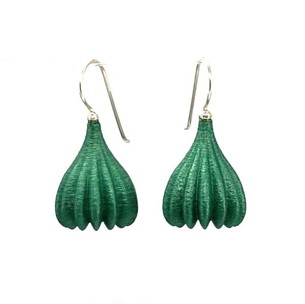 Jenny Fahey — Medium Pod Drop Earrings in Emerald Jewellery Jenny Fahey | Craft