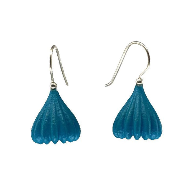 Jenny Fahey — Medium Pod Drop Earrings in Teal Jewellery Jenny Fahey | Craft