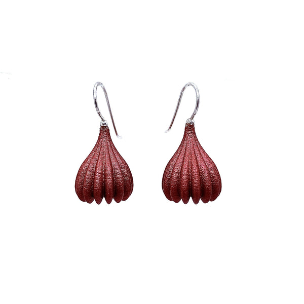 Jenny Fahey — Medium Pod Drop Earrings - Australian made Jewellery