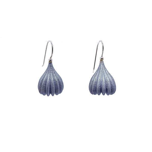 Jenny Fahey — Medium Silver Pod Drop Earrings - Australian made Jewellery