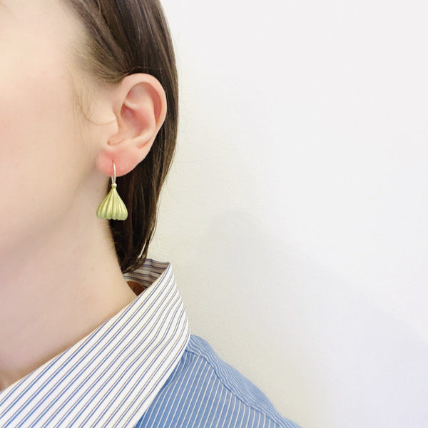 Jenny Fahey — Purple Small Pod Drop Earrings - Australian made Jewellery