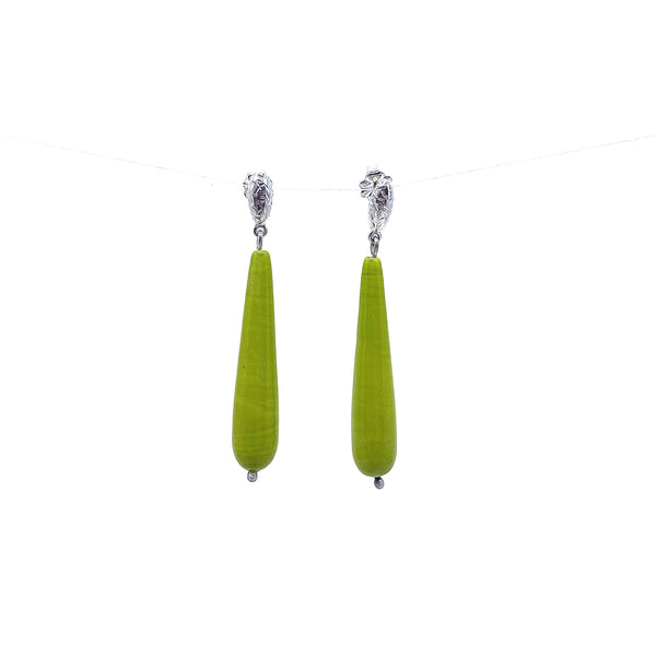 Jenny Fahey — Silver and Glass Drop Earrings - Australian made Jewellery