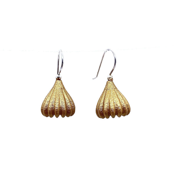 Jenny Fahey — Small Gold Pod Drop Earrings - Australian made Jewellery