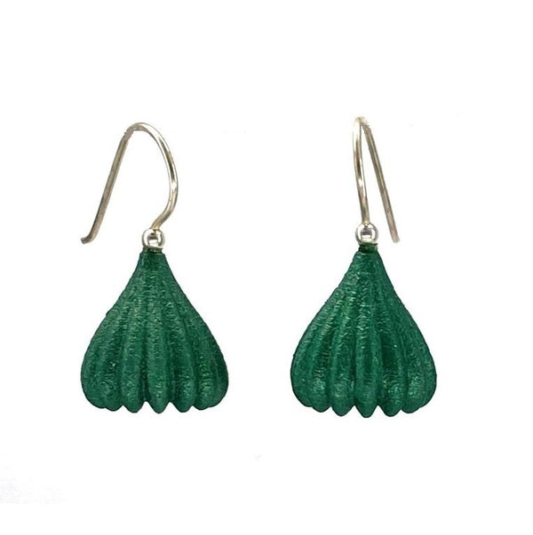 Jenny Fahey — Small Pod Drop Earrings in Emerald Jewellery Jenny Fahey | Craft