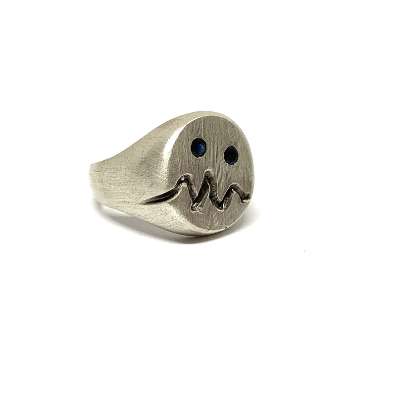 Justine Austen — Silver and Sapphire 'Monster' Ring - Australian made Jewellery